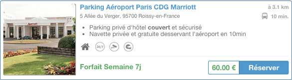 Compare car parks in Roissy